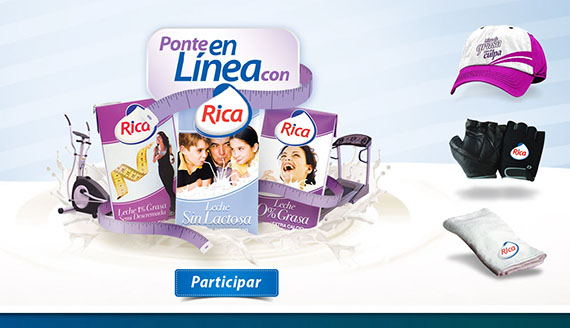 Interactive games and promotional website for Rica Milk